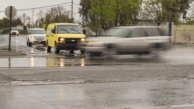 Cal Trans is considering the installation of traffic lights on Tulare Avenue to regulate vehicles coming off Highway 99 in Tulare. Photo taken Wednesday, March 22, 2017.