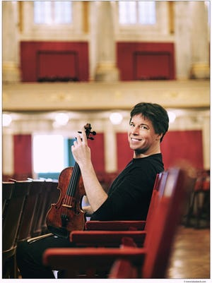 A performance by Joshua Bell at his home will be recorded and streamed Oct. 16 as Music Worcester's first concert of the season.