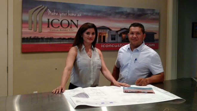 Juanita and Carlos Garcia, vice president and president of Icon Custom Builders, are giving away a new home to a deserving family.