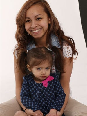 Kimberly Nguyen, 19, and her 2-year-old daughter, Layla David.