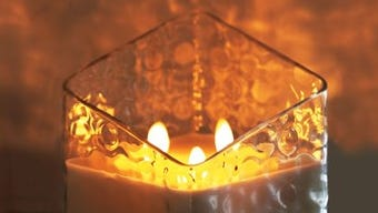 A candle from Yankee Candle's Luminous Collection fragrance line.