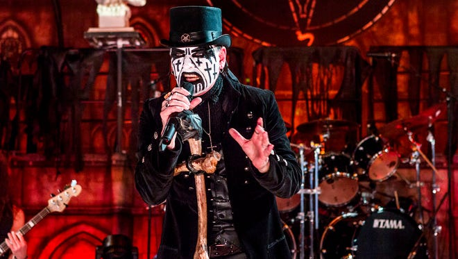 King Diamond, pictured on July 21 at the Rockstar Energy Drink Mayhem Festival at PNC Arts Center in Holmdel, has November shows in New York City and Philadelphia.