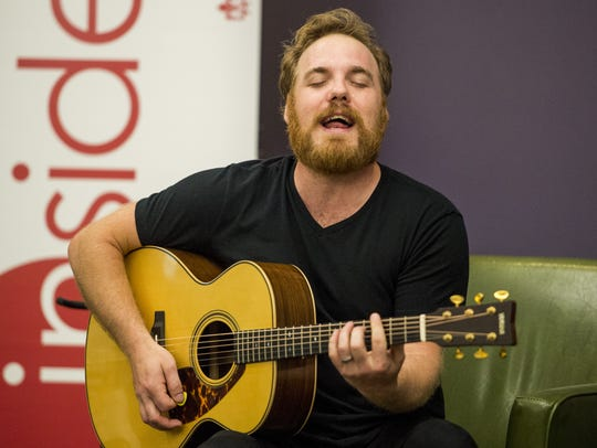 Singer Marc Broussard of Carencro entertains during