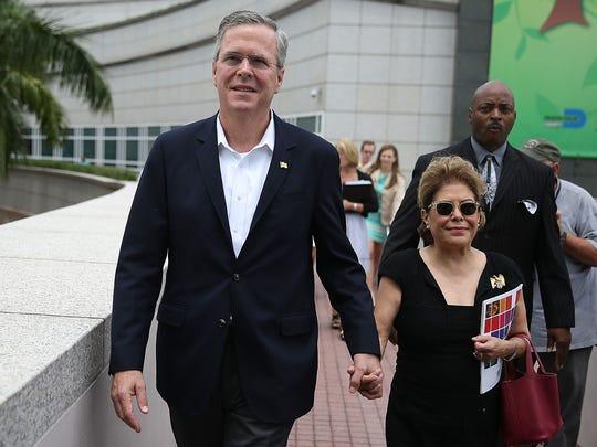 Jeb Bush and his wife, Columba.