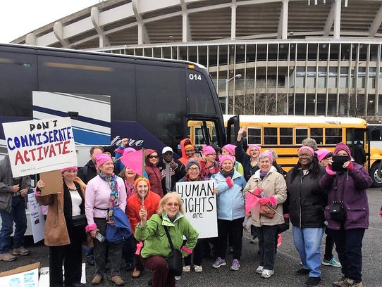 A bus load of women from the Eastern Shore arrived