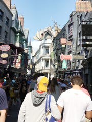 Harry Potter's Diagon Alley brought to life.