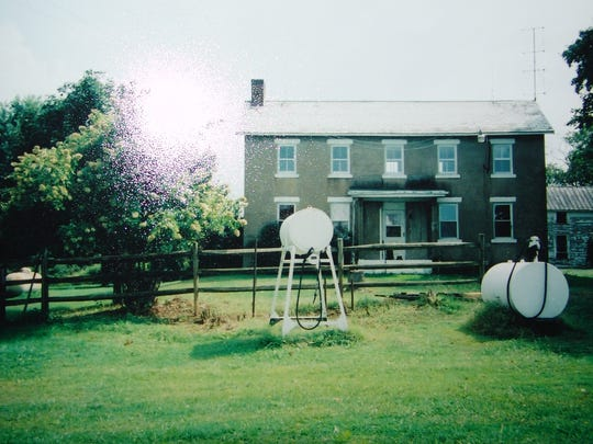 An undated photo of the Vernon farmhouse, prior to renovations.