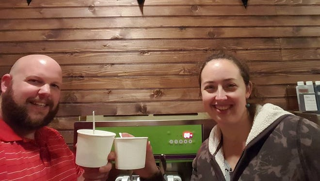 Nathaniel Jolly and his wife Jen Jolly will open a pirate-themed, self-serve frozen yogurt shop in Brevard Dec. 19.
