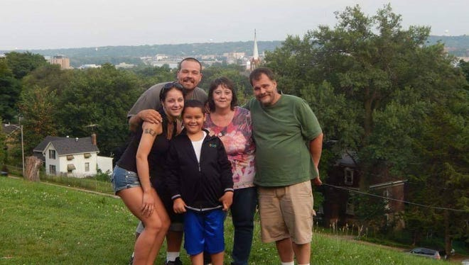 Members of the Klein family seen here: Eric Klein (back), and then from left to right, his sister Bethiney Klein, mother Suzanne Klein and father Robert Klein. Bethiney's son is in the front. On June 24, 2016, Robert Klein fatally shot Suzanne and Eric, and then killed himself.