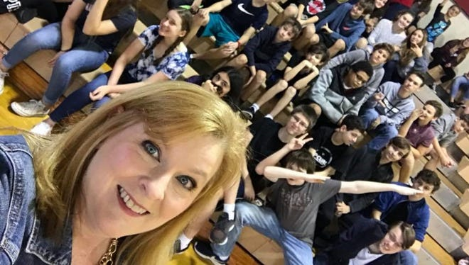 I took a selfie while visiting Hoover Middle School in Indialantic recently, though I'm a little worried selfies aren't cool anymore.