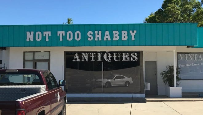 Not Too Shabby, 3705 W. Navy Blvd., is the newest addition to the Navy Boulevard antique scene.