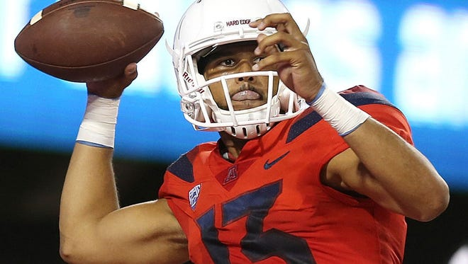 Arizona Wildcats quarterback Brandon Dawkins.