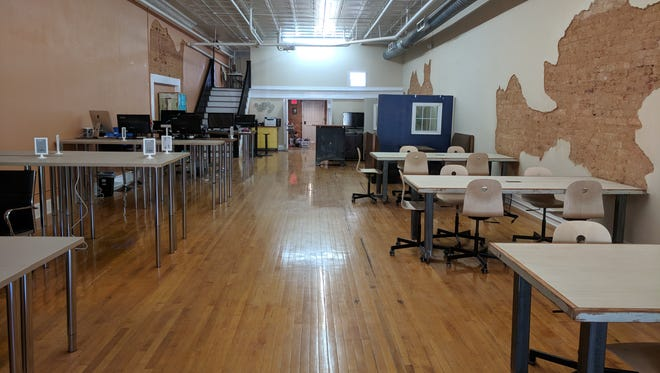 A look inside a new coworking space that opened in downtown Greer on Tuesday, May 1, 2018.