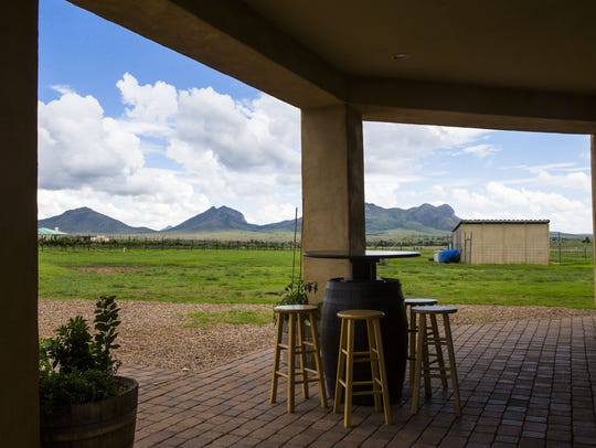 Views from the patio at Kief Joshua Vineyards in Elgin,