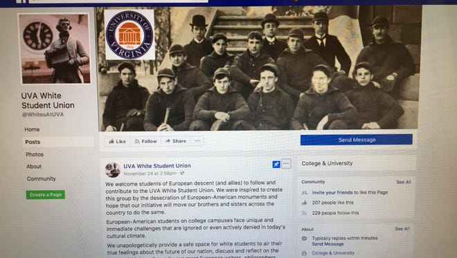 UVA was one of many colleges targeted by Facebook group White Student Union on Black Friday. WSU's have appeared in the past over Thanksgiving holidays, including James Madison University in 2015 when 30 colleges and universities fell victim to the fake page.