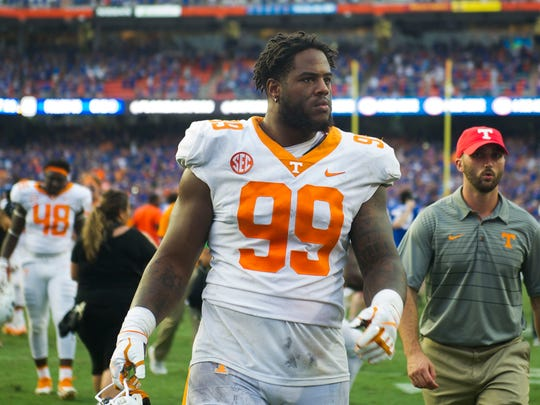Tennessee defensive lineman Reginald McKenzie Jr. (99)