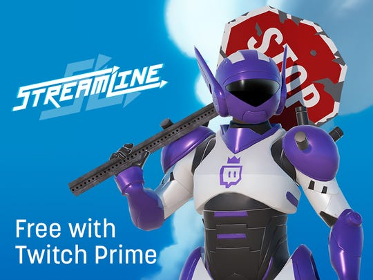 Promotional art for Twitch Prime launch about perks