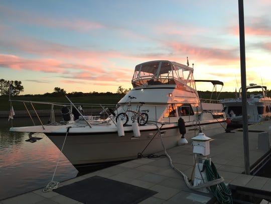The Pura Vida yacht is photographed near Ottawa, Illinois,