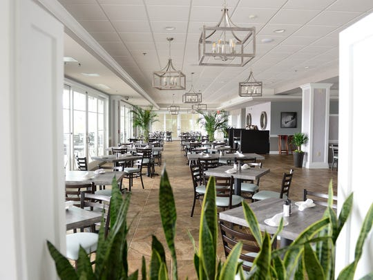 Inside the newly renovated restaurant at The Cove at Mumford Landing.