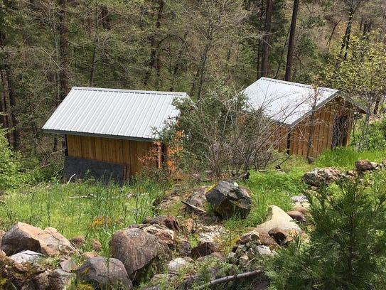 A cabin where authorities say Tad Cummins held Elizabeth