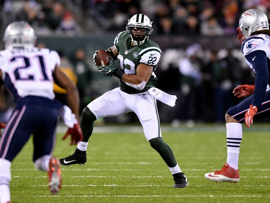 Matt Forte, pictured in last November's game against the Patriots at MetLife Stadium, hopes to play against New England on Sunday.