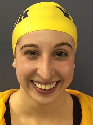 Victor swimmer Natalie Zaravella.