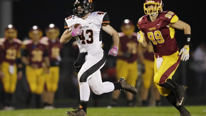 West De Pere's Austin Beaumier (43) has rushed for 1,820 yards this season.
