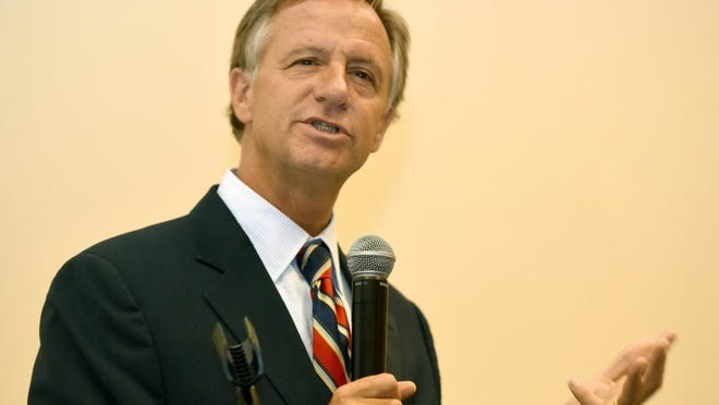 Gov. Bill Haslam was the featured speaker at the Rotary Club of Knoxville lunch Tuesday, May 31, 2016.