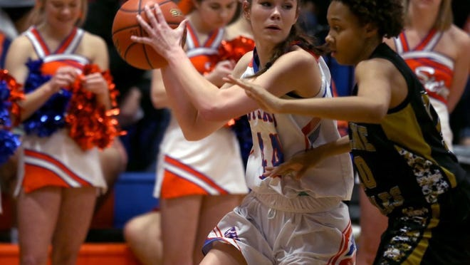 Cadye Nelms had a game-high 23 points to lead the Central High School girls basketball team to a 61-37 win against Abilene Cooper at Babe Didrikson Gym on Saturday.