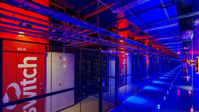 A handout photo of a Switch data center.