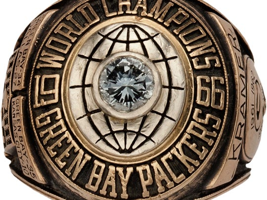 Jerry Kramer's Super Bowl I ring.