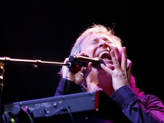 Vocalist and keyboard player Ronnie Platt performs