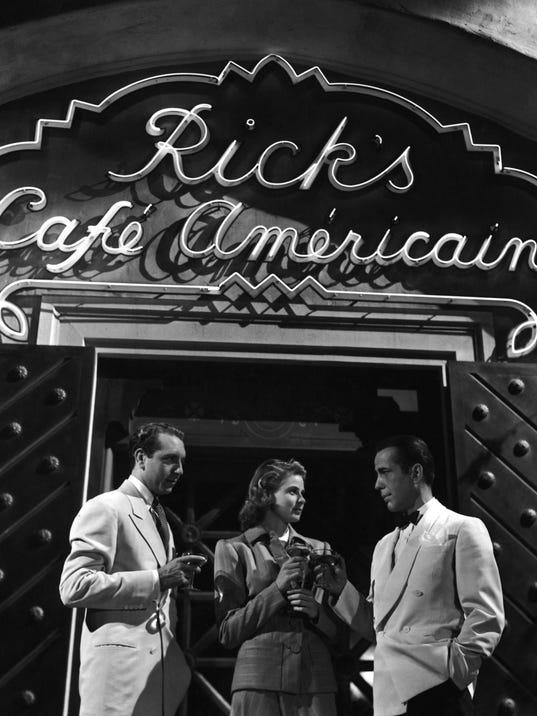 paul henreid, ingrid bergman & humphrey bogart - casablanca 1943