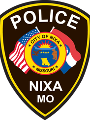 The current badge used by the Nixa Police Department.