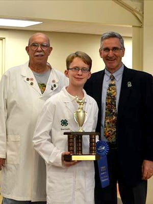 Garnet Henry, Chambersburg, of the Franklin County 4-H Poultry Club is the champion winner of the Beginner Class Youth Bird-less Poultry Showmanship contest.