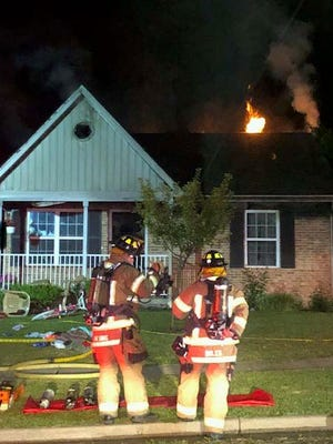 Lancaster firefighters responded to a fire Sunday night, May 27, 2018, on Hanover Court in Lancaster.