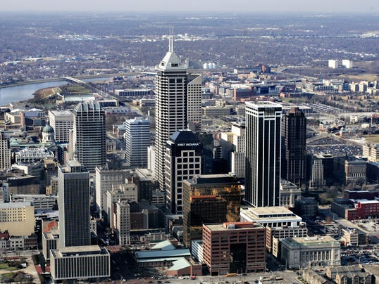 IndyStar stock indianapolis stock downtown stock skyline