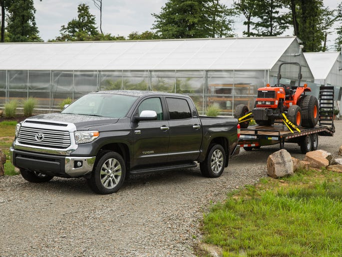 2014 Toyota Tundra Platinum. Toyota is the only maker currently using the tough test for tow ratings developed by the makers and SAE, and then not used by Toyota's rivals.