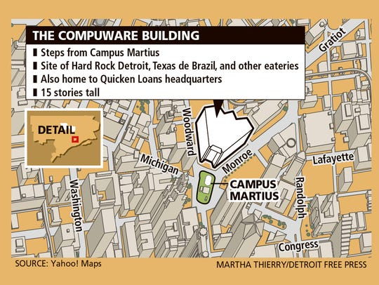 Compuware Building map