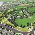 A conceptual rendering of Southeast Community Park, which is under construction near the intersection of Ziegler and Kechter roads.