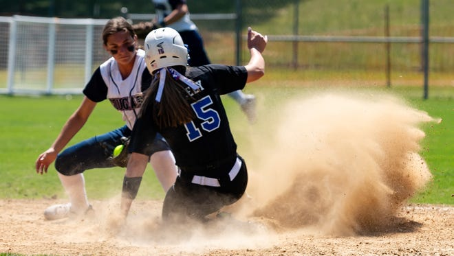 The St. Thomas More Cougars take on Parkview Baptist in the Division II semifinals of the LHSAA softball tournament Saturday in Sulphur.