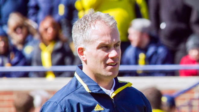 Michigan defensive coordinator D.J. Durkin.