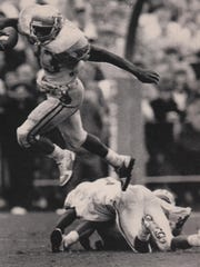 In his four seasons with Florida State (1985-88), tailack Sammie Smith rushed for 2,539 yards and 15 touchdowns.