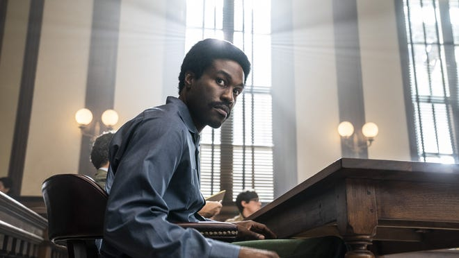 "Yahya Abdul-Mateen II plays Bobby Seale in Aaron Sorkin's ""The Trial of the Chicago 7"" on Netflix."
