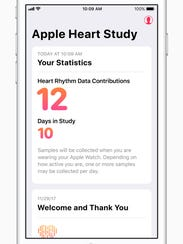 The Apple Heart Study collects stats from volunteer