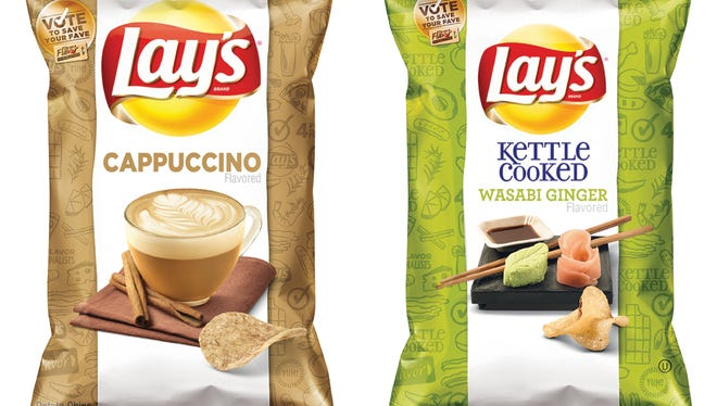 """Frito-Lay is holding its second annual """"Do Us a Flavor"""" contest in the U.S., which gives people a chance to create a new potato chip that is sold nationally and win $1 million. The finalists, which will be announced Wednesday, are Cappuccino, Wasabi Ginger, Bacon Mac & Cheese, and Mango Salsa."""