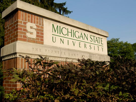 MSU Sign at the Bogue Street Entrance on a August Summer