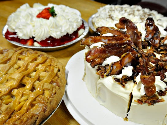 Pie creations at Kay's Kitchen in St. Joseph include