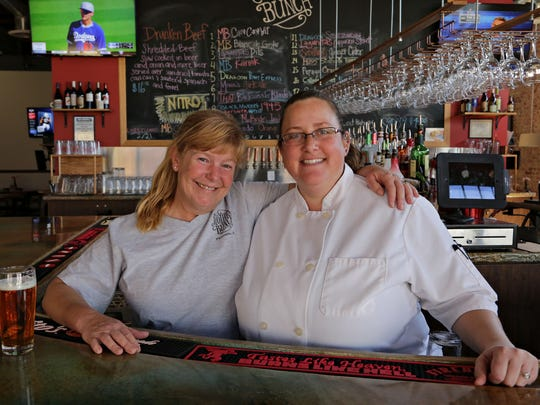 Owner Julie Meeker (left) and chef Holly Arguello from Mother Bunch Brewery in Phoenix.