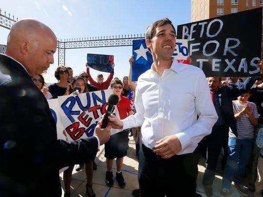 U.S. Rep. Beto O'Rourke, D-El Paso, formally announces his Senate campaign March 31 in his hometown.